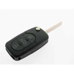Klappschlüsselgehäuse für VW - 3 Tasten - für alte Modelle - Schlüsselblatt HU66 - After Market Produkt