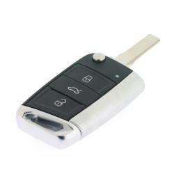 Klappschlüsselgehäuse für SKODA - 3 Tasten - Schlüsselblatt HU66 - Type C - Modelle von 2012 - After Market Produkt