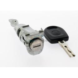 Komplettes Fahrertürschloss mit 1 gefräßte Schlüssel für VW u.a. die Modelle Bora, Jetta und Vento - Schlüsselblatt HU66 - After Market Produkt