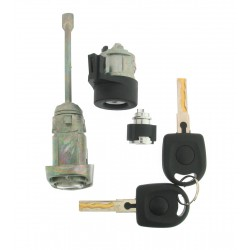 Komplettes Türschlossset mit 2 gefräßte Schlüssel für u.a. die Modelle VW Bora. - Schlüsselblatt HU66 - After Market Produkt