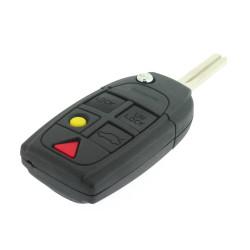 Volvo Klappschlüssel Gehäuse -  5 Tasten - Schlüsselblatt NE66T2 - Aufhängeröse in Gehäuse