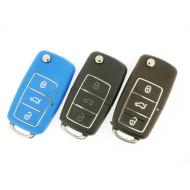 Klappschlüsselgehäuse für VW - 3 Tasten - verschiedene Farben - After Market Produkt